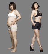 12キロの減量に成功した佐藤仁美 ビフォー(左)⇒アフター