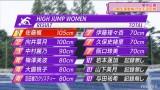 『3期生運動能力女王決定戦』走り高跳び記録(C)AbemaTV,Inc.