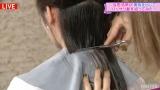 冠コーナー「与田祐希が勇気を出してバッサリ髪を切ってみた」で髪をバッサリカットした与田祐希(C)AbemaTV,Inc.