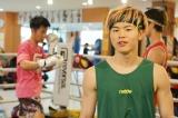 Cygames presents RISEonABEMA』に向けて練習を行った那須川天心選手(C)RISE