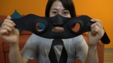 久保田直子アナウンサーがいま話題の「マスク型美顔器」に挑戦=6月27日深夜放送、『動画、はじめてみました 〜気になる美容!女子アナが試してみたSP〜』 (C)テレビ朝日