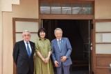 6月27日に開催されたトキワ荘マンガミュージアム開館記念式典に出席した(右から)高野之夫豊島区長、里中満智子氏、足立菊保氏