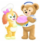 新登場のクッキー・アンとダッフィー (C)Disney