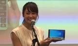 ポータブルゲーミングPC『OneGx1』新製品発表会に登場した竹内佳菜子