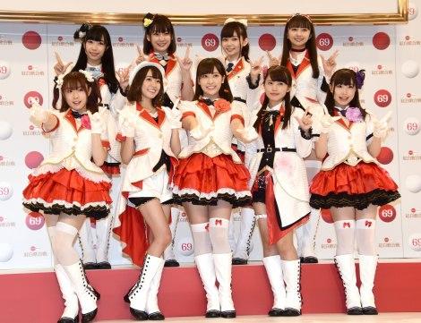 『第69回NHK紅白歌合戦』の企画コーナーに出演するAqours(アクア) (C)ORICON NewS inc.