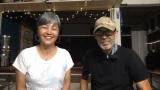9日放送の『直撃!シンソウ坂上』に出演する(左から)相楽晴子、夫のゲイリーさん(C)フジテレビ