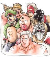 漫画『キン肉マン』人気キャラクターの集合イラスト (C)ゆでたまご/集英社