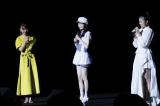 (左から)MCの保田圭、 山崎愛生(モーニング娘。'20) 、岸本ゆめの(つばきファクトリー)