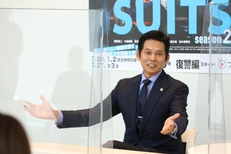 フジテレビ月9ドラマ『SUITS/スーツ』取材会に出席した織田裕二 (C)フジテレビ