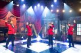 WOWOW『僕らのミュージカル・ ソング2020』第二夜(7月25日放送)『ジャージー・ボーイズ』の楽曲を披露する(左から)spi、中川晃教、藤岡正明、矢崎広