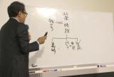 北条義時の家系図を説明する脚本の三谷幸喜氏 (C)ORICON NewS inc.