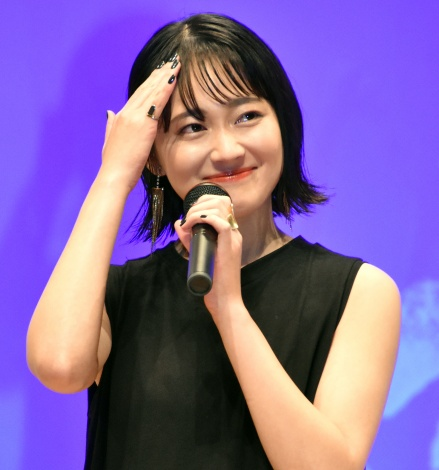 映画『瞽女 GOZE』の完成披露舞台あいさつに出席した吉本実憂 (C)ORICON NewS inc.
