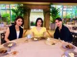 28日放送の『グータンヌーボ2』に出演する(左から)秋元才加、宮澤エマ、長谷川京子(C)カンテレ