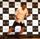 反復横跳びに挑戦した松平健 に=RIZAPシニア向け新プログラム『ライザップ シニアプログラム』記者発表会(C)ORICON NewS inc.