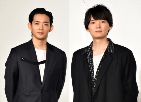 キスシーンを振り返った(左から)竜星涼、古川雄輝=映画『リスタートはただいまのあとで』の記者会見 (C)ORICON NewS inc.
