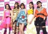 『ViVi Night in TOKYO 2018 KIRA KIRA PARTY SPRING』前の囲み取材に出席した(左から)玉城ティナ、八木アリサ、トリンドル玲奈、河北麻友子、emma (C)ORICON NewS inc.