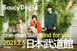 Saucy Dogが来年2月5日に初の日本武道館ワンマンライブを開催することを発表