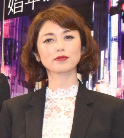 舞台『娼年』の囲み取材に出席した高岡早紀 (C)ORICON NewS inc.