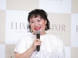 エイジングケアブランド『エリクシール』の新ミューズ発表会に出席したフォーリンラブ・バービー