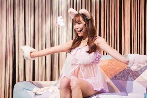 """猫耳をつけた""""ねこるん""""=『NMB48 FIRST ONLINE LIVE 2020 白間美瑠〜離れていても!みるみる▽〜』より(C)NMB48"""