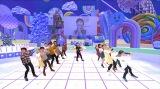 実物のてれび戦士(中央)以外は「3Dスキャンアバター」=Eテレ『天才てれびくんhello,』「電空コロシアムで一緒にバトル!」9月3日生放送 (C)NHK