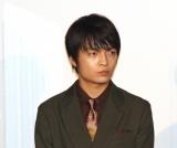 映画『青くて痛くて脆い』初日舞台あいさつに出席した岡山天音 (C)ORICON NewS inc.