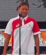 「世界水泳ロシア・カザン2015」競泳日本代表選手壮行会に出席した赤瀬紗也香 (C)ORICON NewS inc.