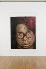 顔にフォーカスした女の子の絵画「みっちゃん」(C)FREESTYLE 2020 SATOSHI OHNO EXHIBITION
