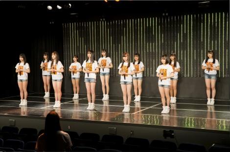 NMB48劇場200日ぶりのゆう観客公演でお披露目された7期生11人(C)NMB48