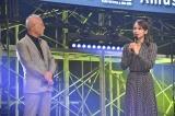 『ショートショート フィルムフェスティバル & アジア 2020』オープニングセレモニーに登壇したアミューズ代表取締役会長・大里洋吉氏(左)とソニン (C)ORICON NewS inc.