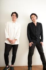 BSスカパー×衛星劇場『どっぷり副音声〜ボタンひとつでステージ裏へ〜』の収録に臨んだ(左から)中村隼人と尾上松也