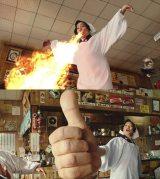慎吾母(香取慎吾)による「お母さん食堂」テレビCM解禁より。上が〈四川風麻婆豆腐篇〉、下が〈鉄板焼ハンバーグ篇〉