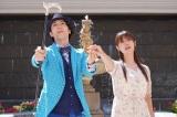 『ルパンの娘』場面カット(左から)大貫勇輔、深田恭子 (C)フジテレビ