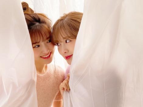 松村沙友理と白石麻衣(2020年2月撮影)