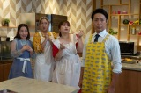 (左から)キンタロー。、虻川美穂子、りんごちゃん、尾上菊之助(C)テレビ朝日