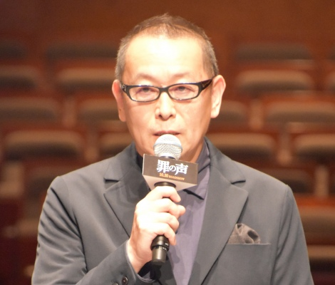 映画『罪の声』完成報告会に出席した土井裕泰監督 (C)ORICON NewS inc.