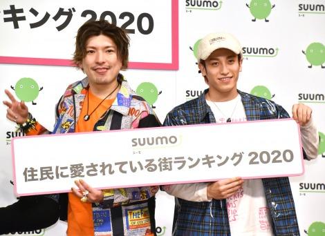 『SUUMO 住民に愛されている街ランキング2020』のトークショーに登壇したEXIT(左から)りんたろー。、兼近大樹 (C)ORICON NewS inc.
