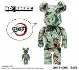 コラボ商品「『鬼滅の刃』 BE@RBRICK 100% & 400%」(C)吾峠呼世晴/集英社 (C)BE@RBRICK TM &  (C) 2001-2020 MEDICOM TOY CORPORATION. All rights reserved.