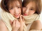白石麻衣(右)の『卒業本』に松村沙友理(左)との対談が掲載(2020年2月撮影)