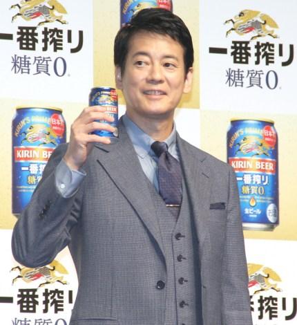 『キリン一番搾り 糖質ゼロ』発売記念イベントに登場した唐沢寿明 (C)ORICON NewS inc.