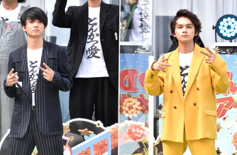 共演シーンは「2人でずっとニヤニヤ」していたと明かした(左から)伊藤健太郎、北村匠海=『とんかつDJアゲ太郎』のイベント (C)ORICON NewS inc.