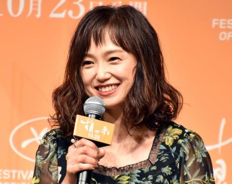 映画『朝が来る』の完成報告会見に出席した永作博美 (C)ORICON NewS inc.