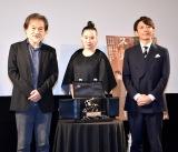 映画『スパイの妻』生配信イベントに出席した(左から)黒沢清監督、蒼井優、高橋一生 (C)ORICON NewS inc.