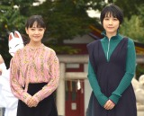 得意料理トークで笑顔を見せた(左から)奈緒、松本穂香 (C)ORICON NewS inc.