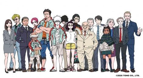 完全新作TVアニメシリーズ『ゴジラ S.P<シンギュラポイント>』キャラクターデザイン原案絵(C)2020 TOHO CO., LTD.