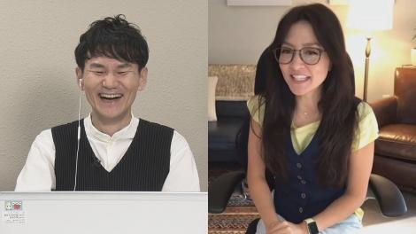 香川出身の南原清隆と徳島出身のアンジェラ・アキが初対談(C)NHK四国