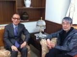 (左から)筒美京平さん、松本隆氏(写真はツイッターより/掲載許可済み)