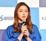 Santen『ヒアレインS』新CM発表会に出席した石原さとみ (C)ORICON NewS inc.