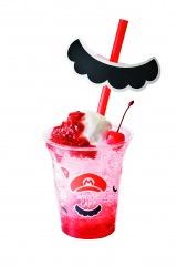 『マリオ・カフェ&ストア』よりルーツ・クリームソーダ マリオのいちごクリームソーダ
