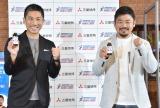 『MARUNOUCHI SPORTS FES 2020 LIVE「ウィズコロナ時代のスポーツの楽しみ方とは?」』に登壇した(左から)前園真聖氏、田中史朗選手 (C)ORICON NewS inc.